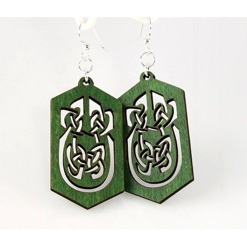 Green Tree Jewelry Celtic Rectangles Earrings