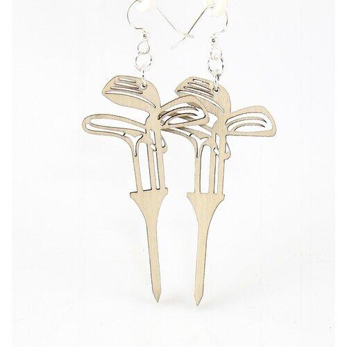 Green Tree Jewelry Golf Set on Tee Earrings