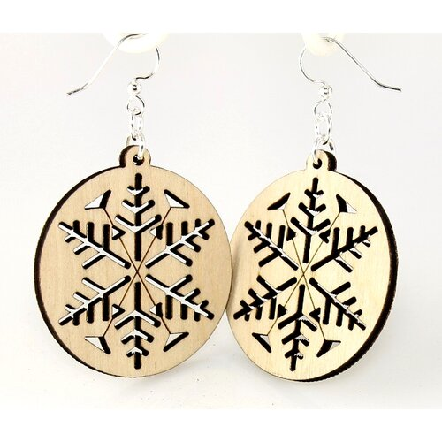 Green Tree Jewelry Snowflakes Earrings