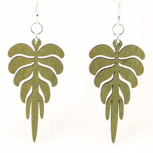 Green Tree Jewelry Pine Leaves Earrings