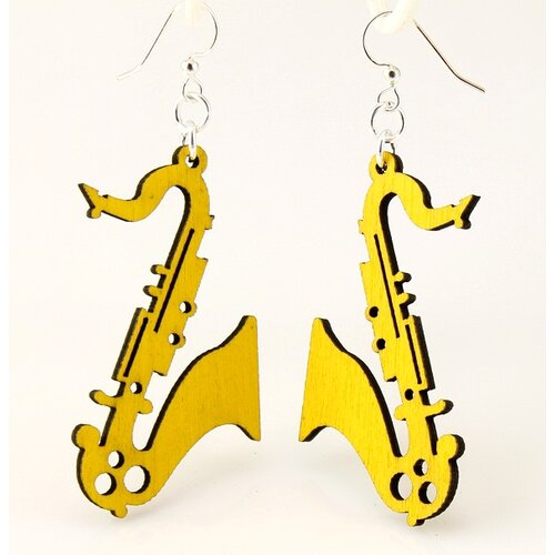 Green Tree Jewelry Saxophones Earrings