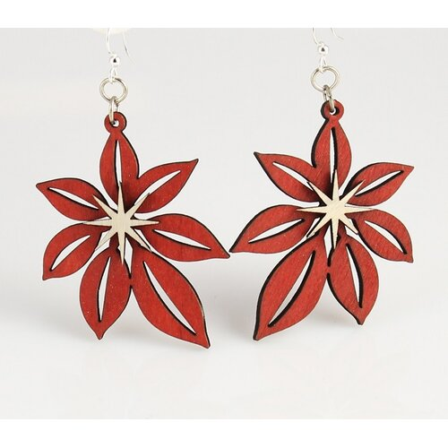 Green Tree Jewelry Poinsettia Earrings