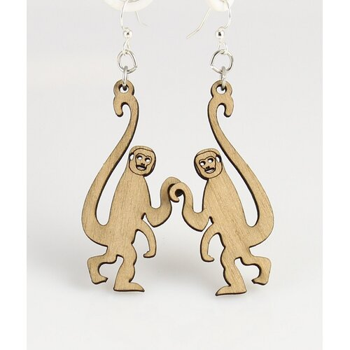 Green Tree Jewelry Monkey Earrings