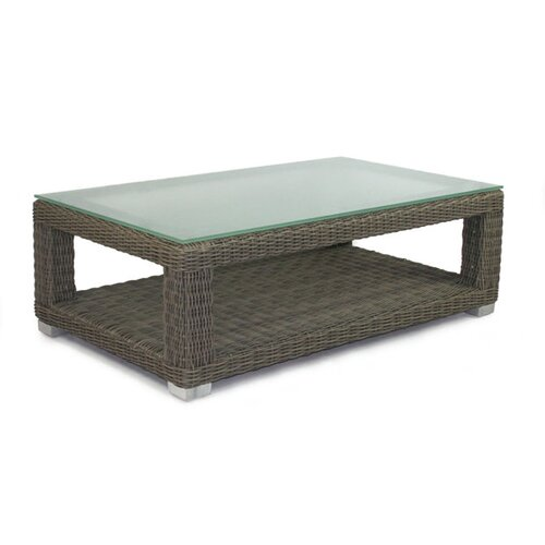 Palisades Coffee Table with Tempered Glass Top