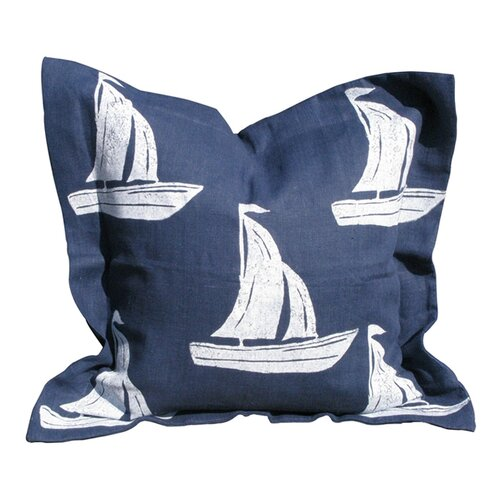 Lowcountry Linens Sailboat Pillow