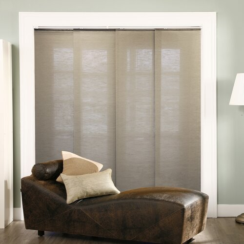 chicology double rail sliding jute vertical blind. Black Bedroom Furniture Sets. Home Design Ideas