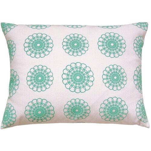Doily All Over Pattern Block Print Accent Pillow