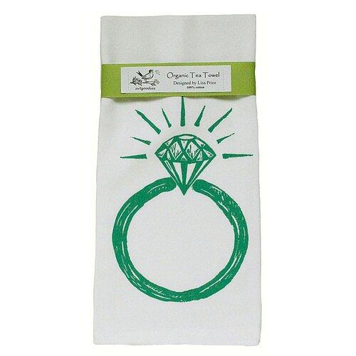 Artgoodies Organic Ring Block Print Tea Towel