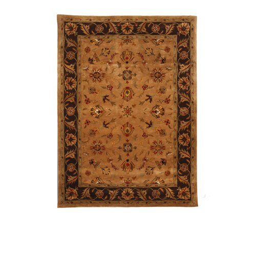 Liberty Oriental Rugs Tempest Camel/Dark Brown Rug