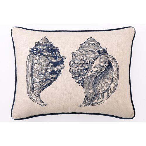 Double Conch Down Filled Embroidered Pillow