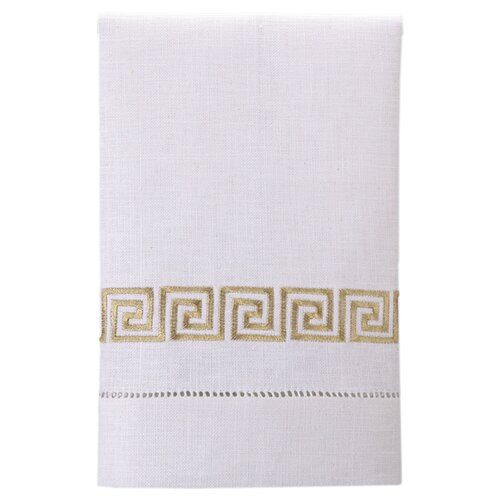 Greek Key Linen Hand Towel (Set of 4)
