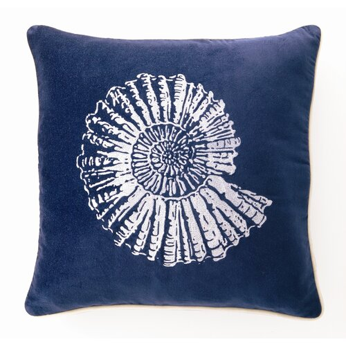 D.L. Rhein Nautilus Down Filled Embroidered Velvet Pillow