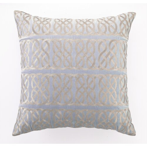 Nautical Knot Down Filled Embroidered Linen Pillow