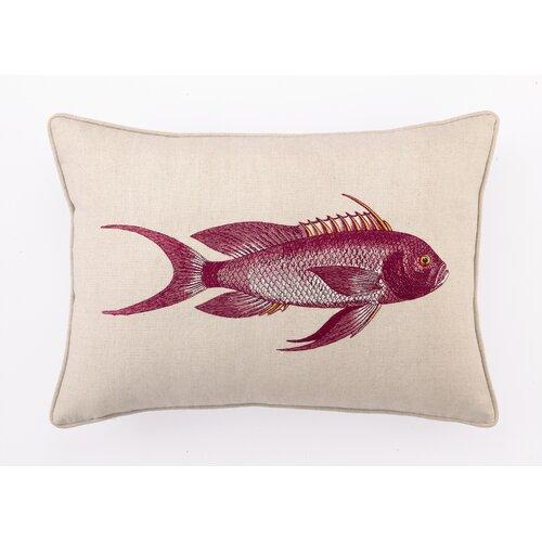 D.L. Rhein Snapper Down Filled Embroidered Linen Pillow