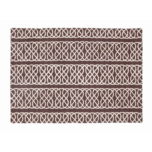 D.L. Rhein Nautical Knot Chocolate Hook Rug