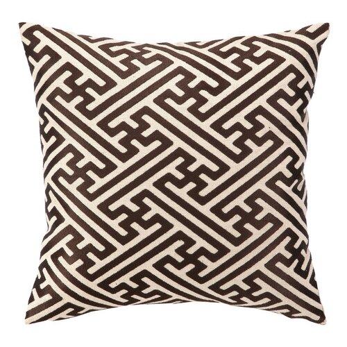 Cross Hatch Down Filled Embroidered Linen Pillow