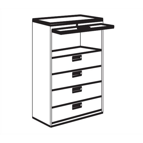 Great Openings 5-Drawer Receding Door  File