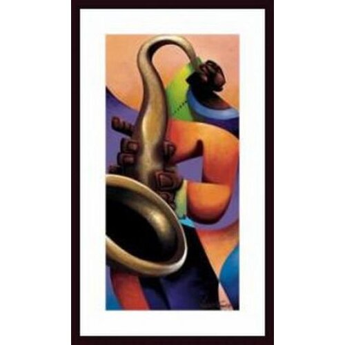 Barewalls Mo' Sax by Maurice Evans Framed Painting Print