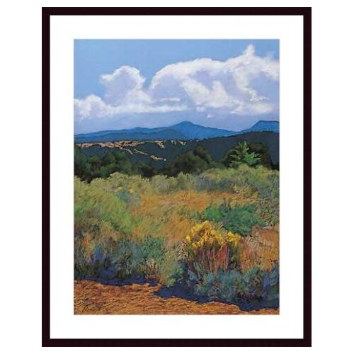 Barewalls Distant Hills by Mary Silverwood Framed Painting Print