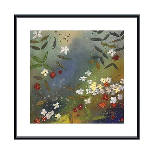 Barewalls Gardens in The Mist II by Aleah Koury Framed Painting Print