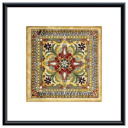Barewalls 'Italian Tile II' by Ruth Franks Framed Painting Print
