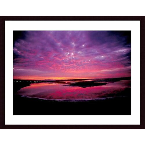 Barewalls 'Sunset' by John K. Nakata Framed Photographic Print