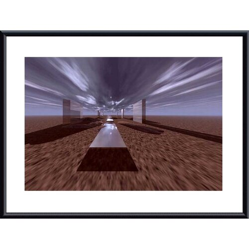 'Space Henge' by John K. Nakata Framed Graphic Art