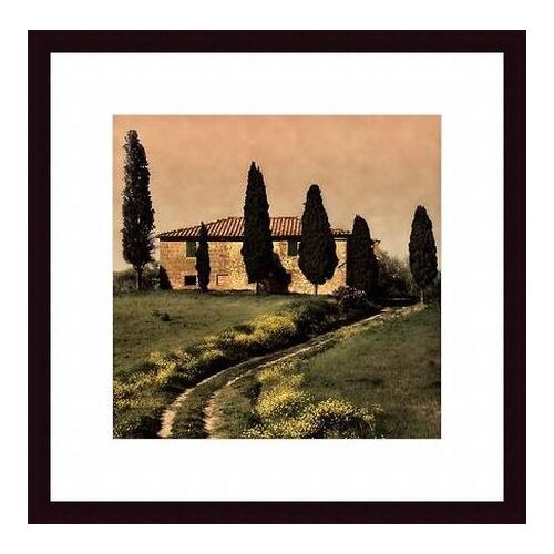 Printfinders 'Tuscan Farmhouse' by Elizabeth Carmel Framed Photographic Print