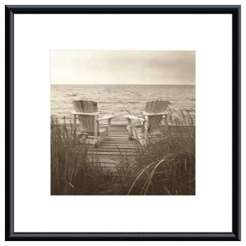 Barewalls 'Beach Chairs' by Christine Triebert Framed Photographic Print
