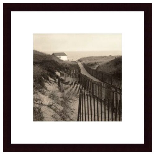 Barewalls 'Dune Fence' by Christine Triebert Framed Photographic Print