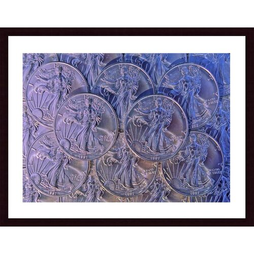 Barewalls 'Silver Eagle Dollars' by John K. Nakata Framed Photographic Print