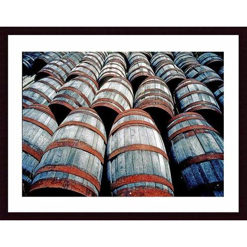 'Old Wine Barrels' by John K. Nakata Framed Photographic Print