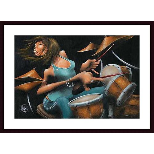 Barewalls 'Lola Beats' by David Garibaldi Framed Painting Print