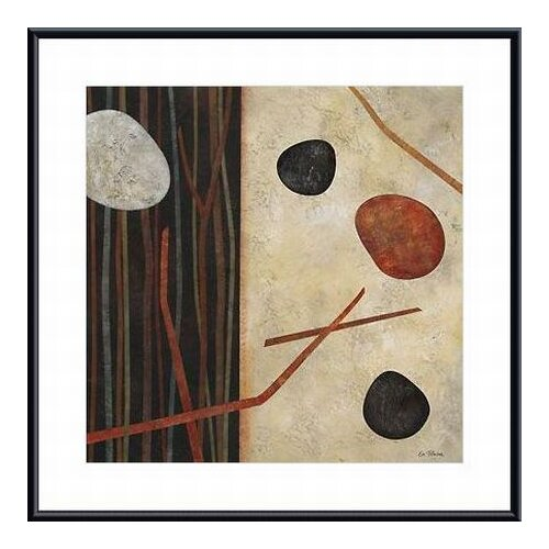 'Sticks and Stones I' by Glenys Porter Framed Graphic Art