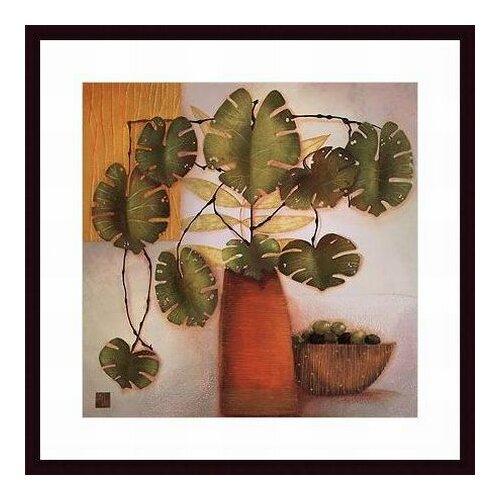 Barewalls Olive Bowl and Vase by Margaret Hughlock Framed Painting Print