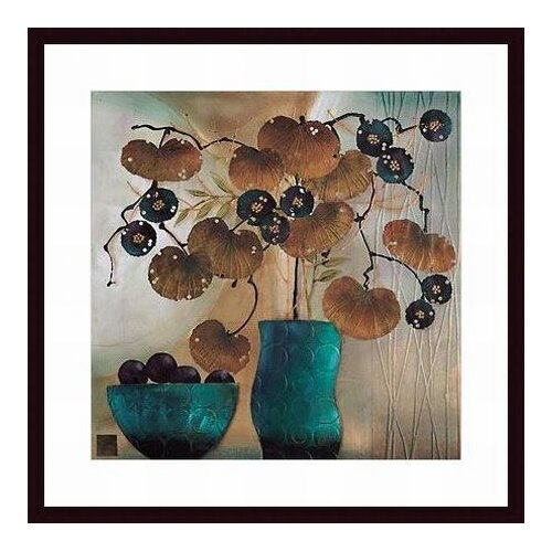 Barewalls Raku Bowl and Vase by Margaret Hughlock Framed Painting Print