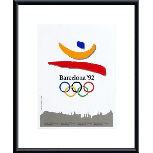 Barcelona 1992 Framed Graphic Art