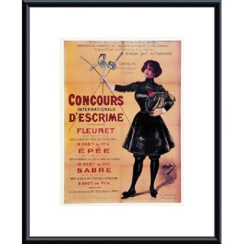 Concours Internationaux Descrime Framed Vintage Advertisement