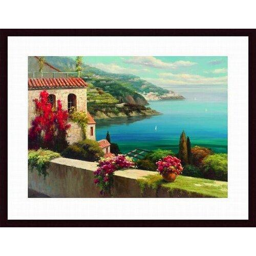 Barewalls Blue Bay I by Rosa Chavez Framed Painting Print