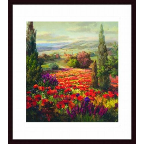 Barewalls Fields of Bloom by Robert Lombardi Framed Painting Print
