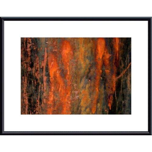 Barewalls Peeling Paint Abstract by John K. Nakata Framed Photographic Print