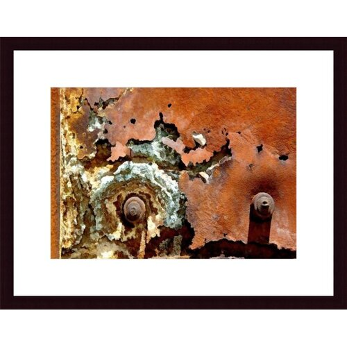 Barewalls Concentric Rust Abstract by John K. Nakata Framed Photographic Print