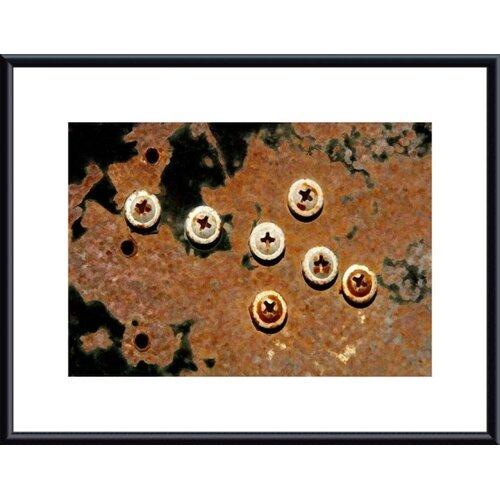 Barewalls 7 Phillips Head Screws by John K. Nakata Framed Photographic Print