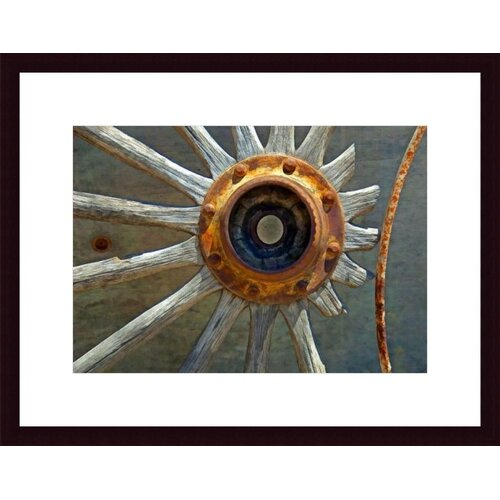 Barewalls Wagon Wheel Abstract by John K. Nakata Framed Photographic Print