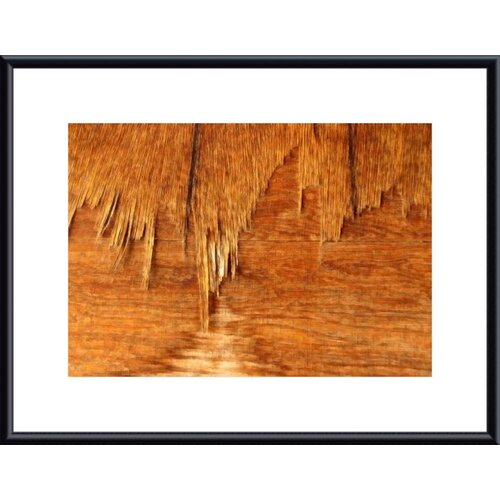 Barewalls Weathered Plywood by John K. Nakata Framed Photographic Print