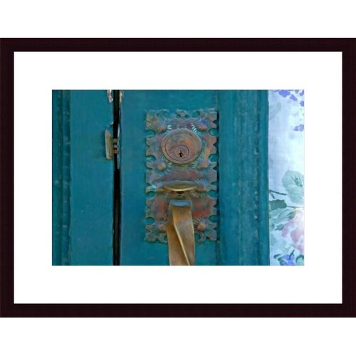 Barewalls Brass Door Handle by John K. Nakata Framed Photographic Print