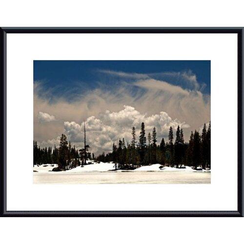 Barewalls Clouds and Snow by John K. Nakata Framed Photographic Print