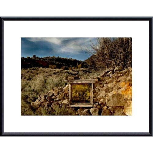 Barewalls Window Treatment by John K. Nakata Framed Photographic Print