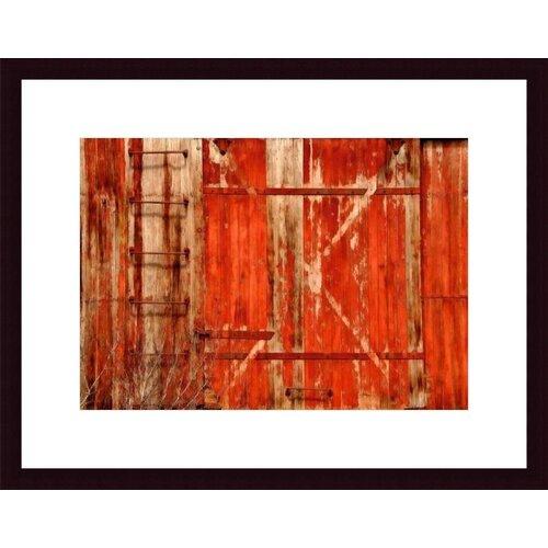 Barewalls Red Boxcar by John K. Nakata Framed Photographic Print