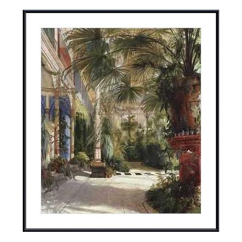 The Palm House by Carl Blechen Framed Painting Print